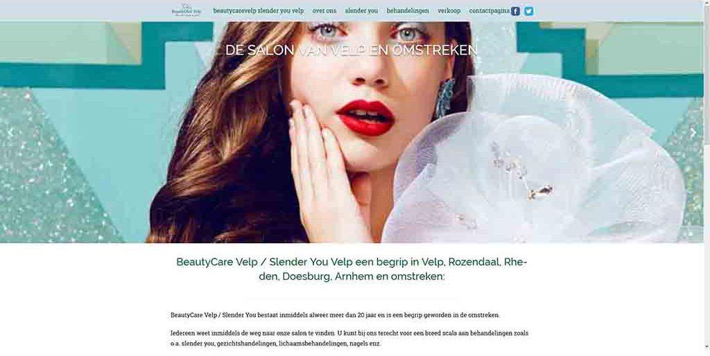 website voorbeeld Beautycare Velp