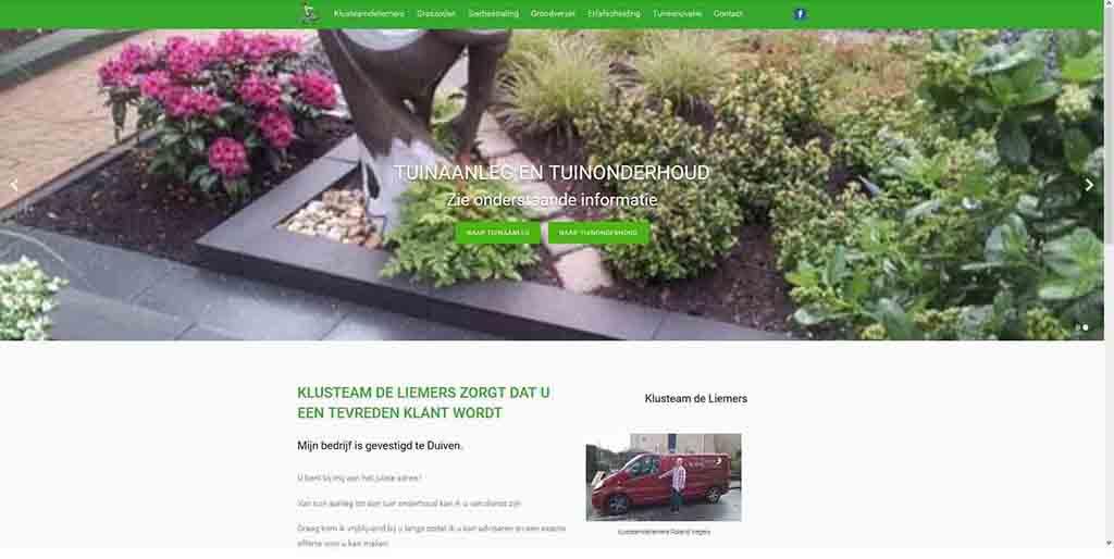 website voorbeeld Klusteam de Liemers