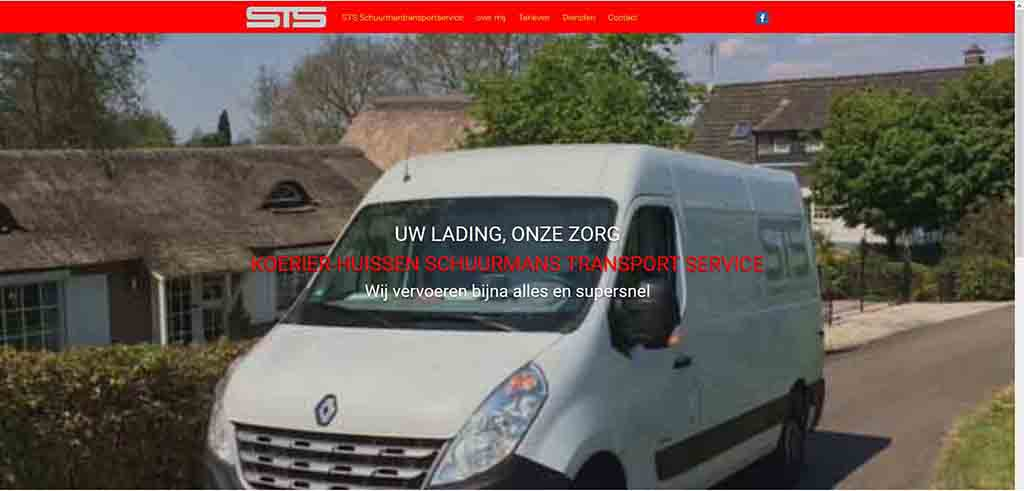 website voorbeeld Koerier-huissen