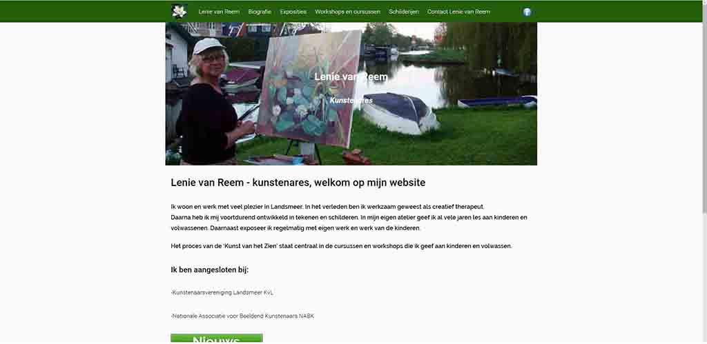 website voorbeeld Lenie van Reem