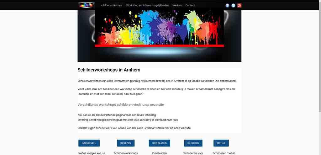 website voorbeeld Schilderworkshop.net
