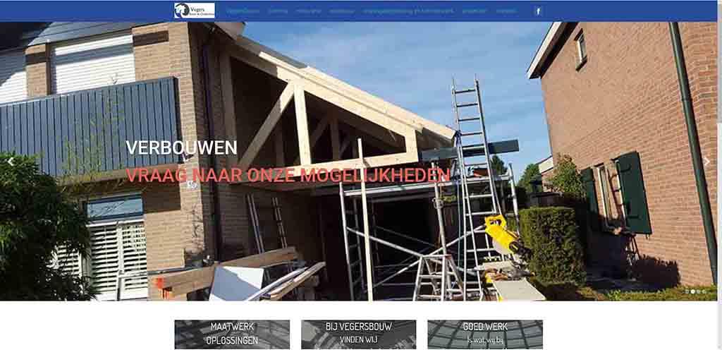 website voorbeeld Vegersbouw