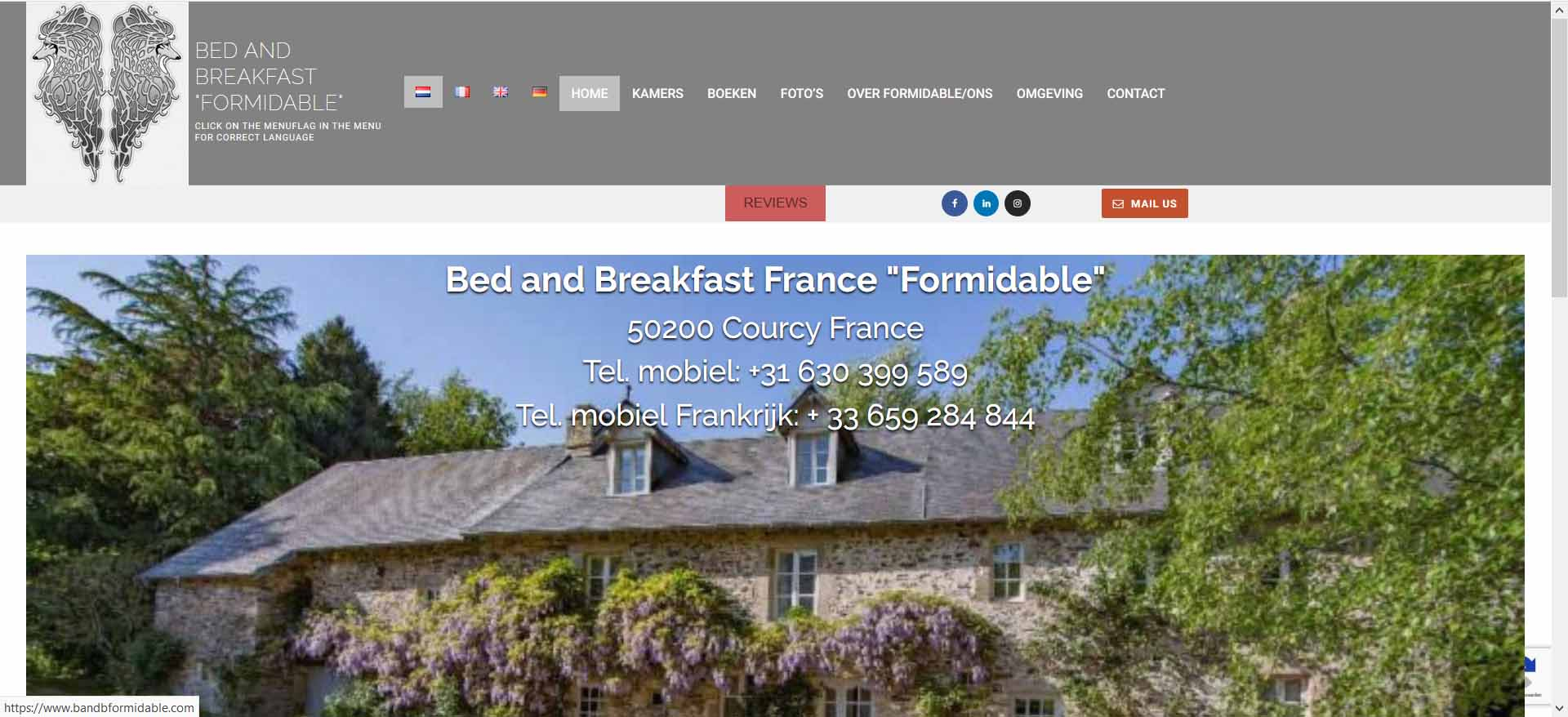 Bed and Breakfast Formidable
